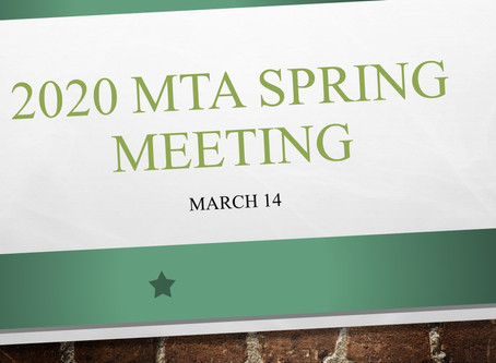 2020 MTA Spring Meeting March 14th