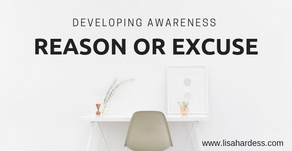 Developing our Awareness: Reason or Excuse?