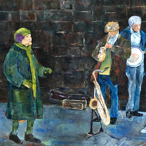 Dancing In the Streets, original oil painting