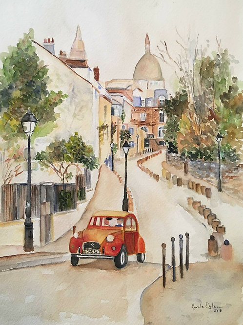 Montmartre In the Morning, Print