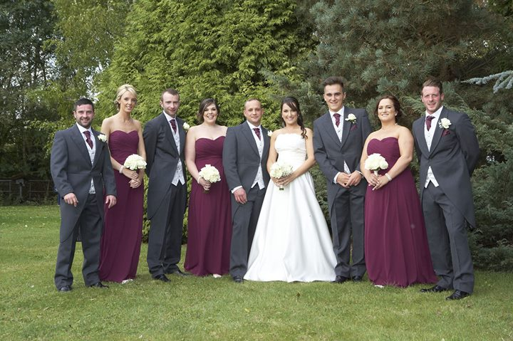 Kay & Matt with their wedding party