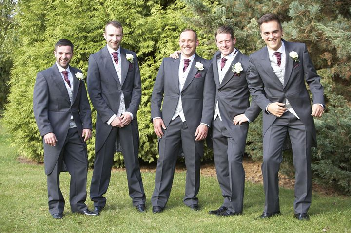 Matt with his groomsmen