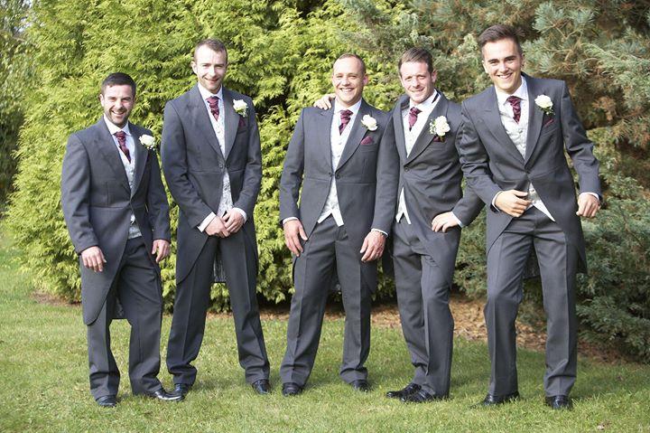 Matt with his groomsmen