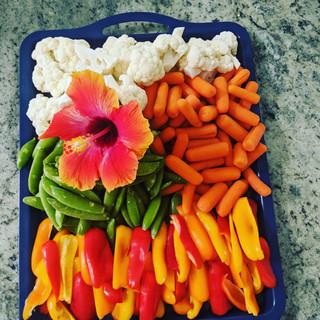 Festive veggie plate