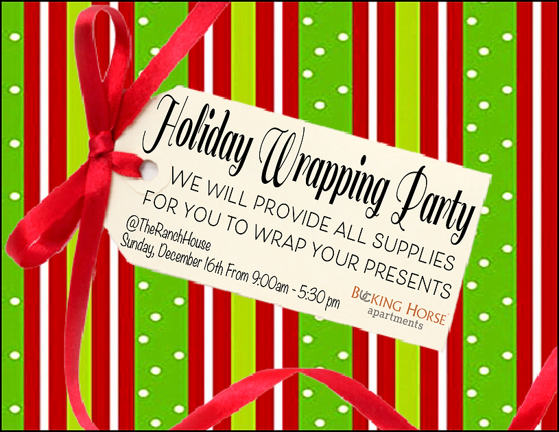 holiday wrapping party . green .png