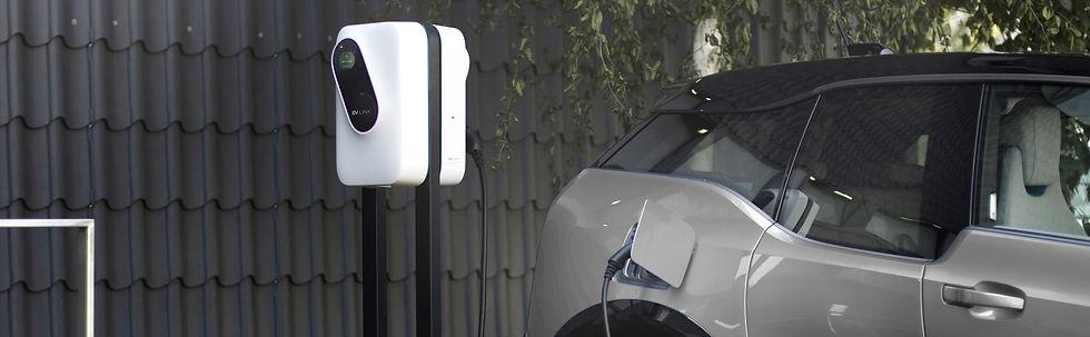 Borne de recharge double de voiture pour les professionnelles avec badge RRIF | EV Link SUISSE
