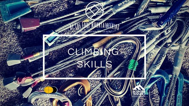 climbing skills courses, rock climbing trad rack