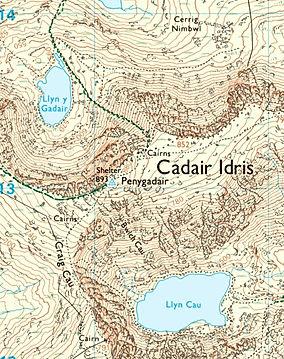 OS Maps, Cadair Idris