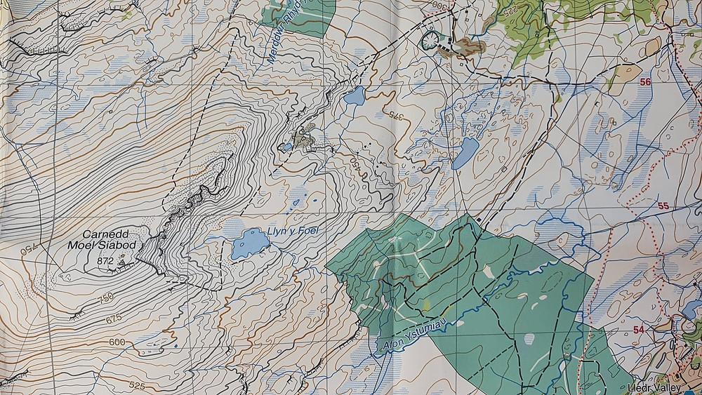 Harvey Maps 1:25,000 scale super walker map, Moel Siabod, Snowdonia