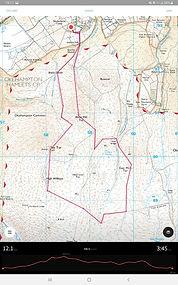 OS maps app, dartmoor