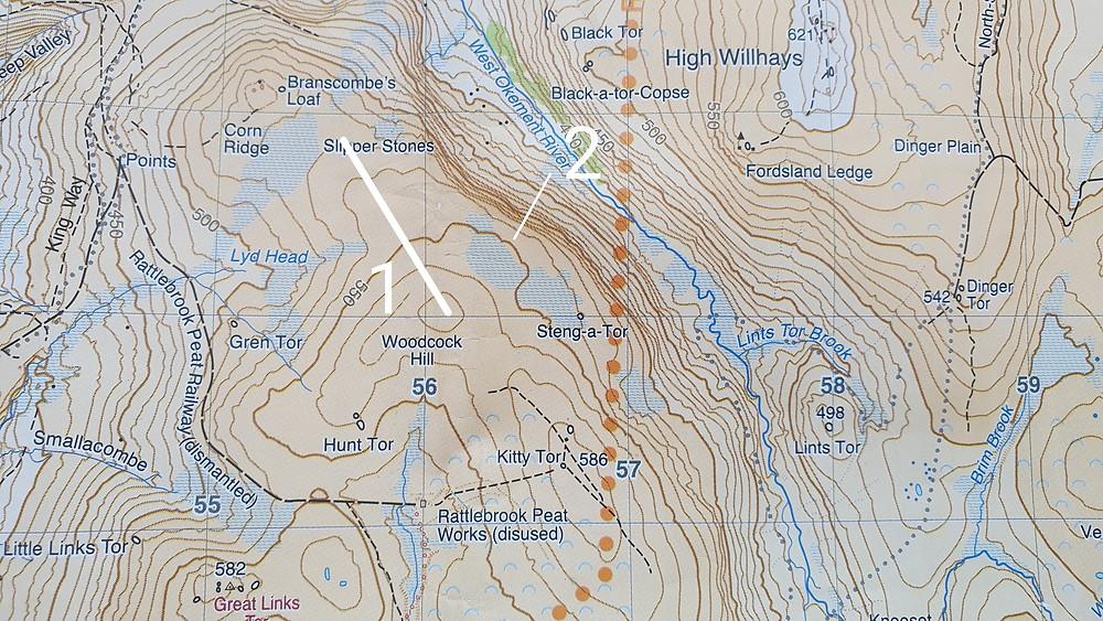 Harvey Maps Dartmoor map