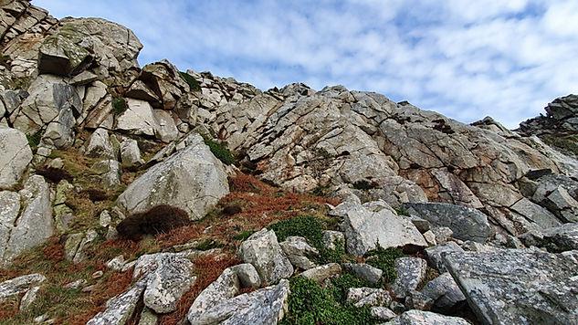 rock climbing Bosigran, Cornwall