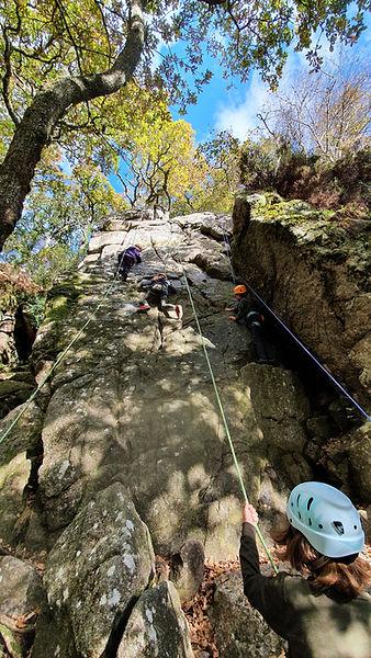 Rock Climbing on Dartmoor, The Dewerstone, Dewerstone rocks