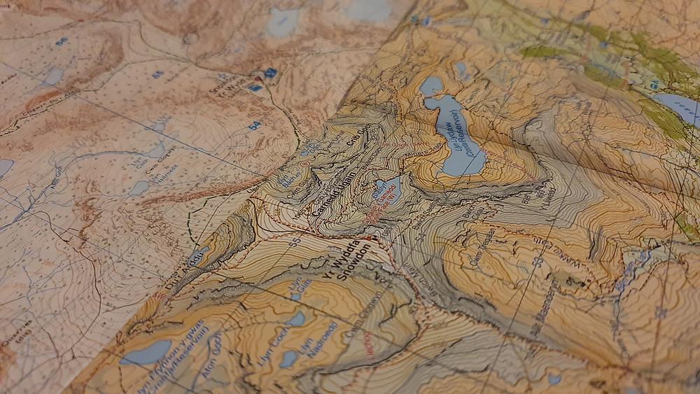 Harvey map Snowdonia