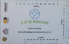 At The Edge Mountaineering distance measuring and timing card