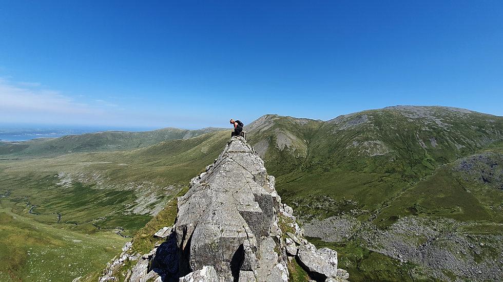 Crib Lem Spur, Llech Ddu spur, Snowdonia