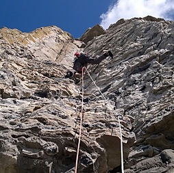 rock climbing at Swanage