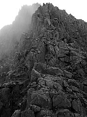 bristly ridge, the glyders, snowdonia