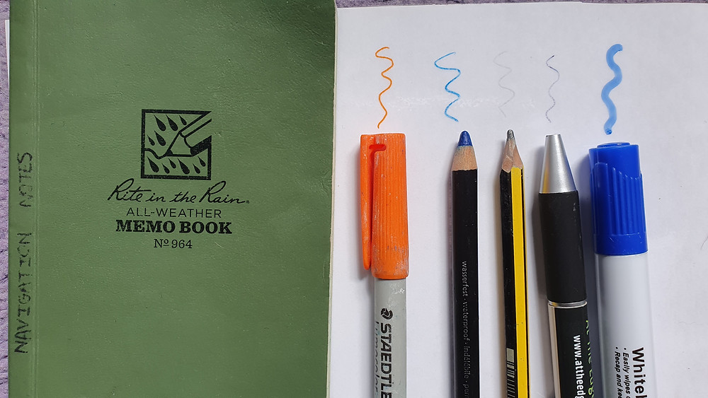 Rite in the Rain Notebook and pens