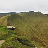 Diving board, Fan Y Big, Brecon Beacons