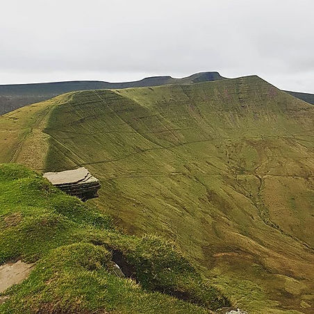 the diving board, Fan Y Big, Brecon Beacons