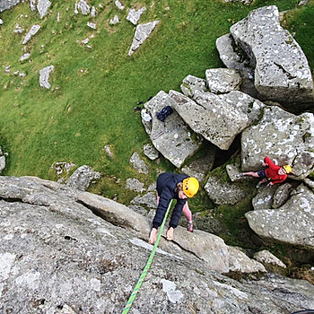 Rock climbing on Dartmoor