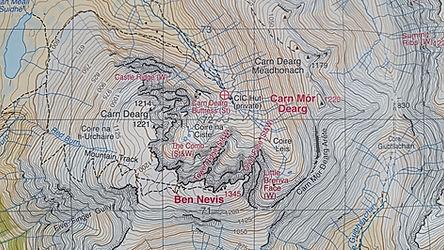 Harvey Maps, Ben Nevis