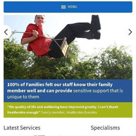 Corporate photography featured on a webs