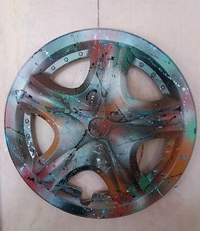 C1 -acrilico e smalto su plastica pretrattata - diametro circa cm. 42 - 2017