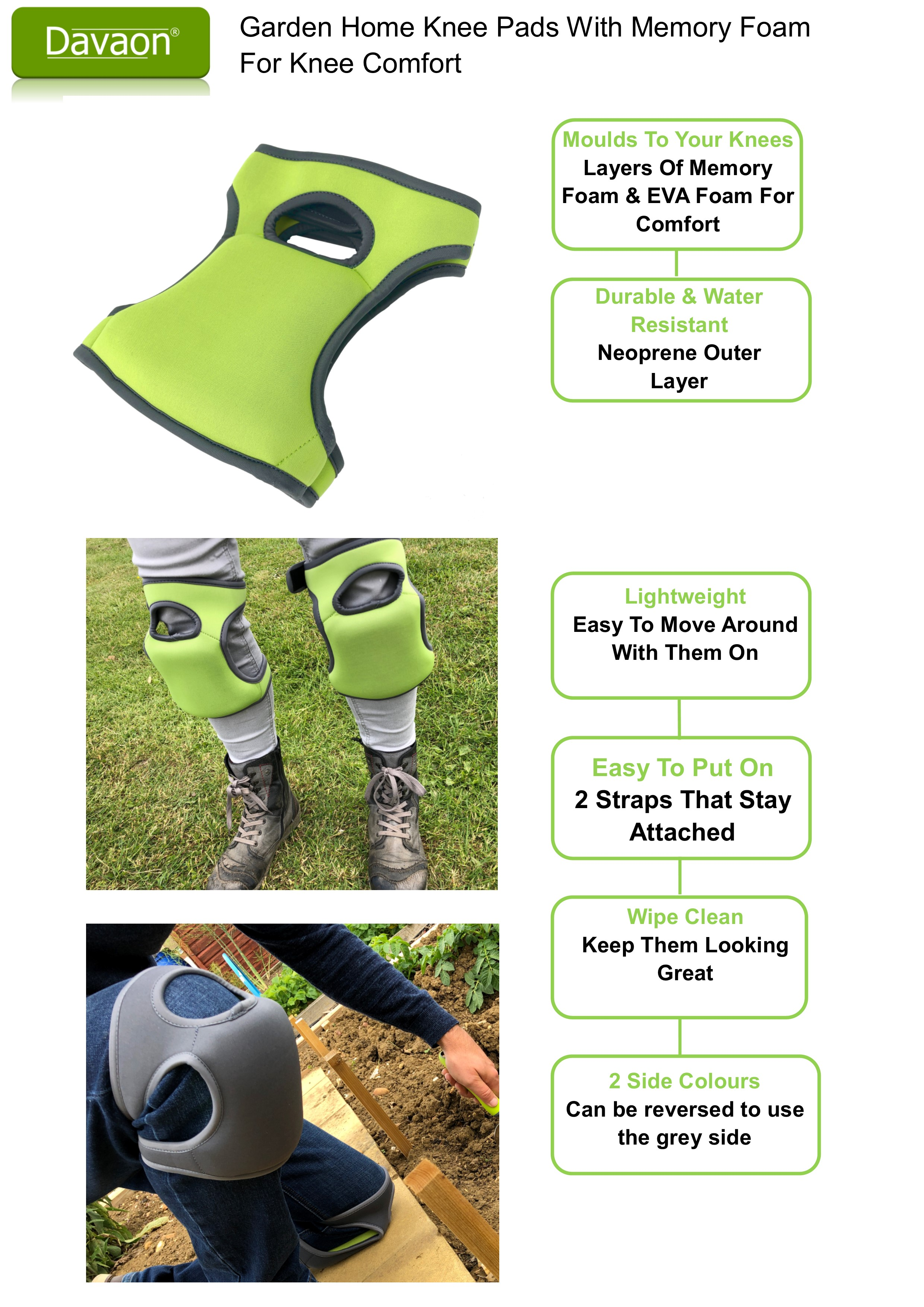 Davaon Kneer Pads Overview Colours 50 50