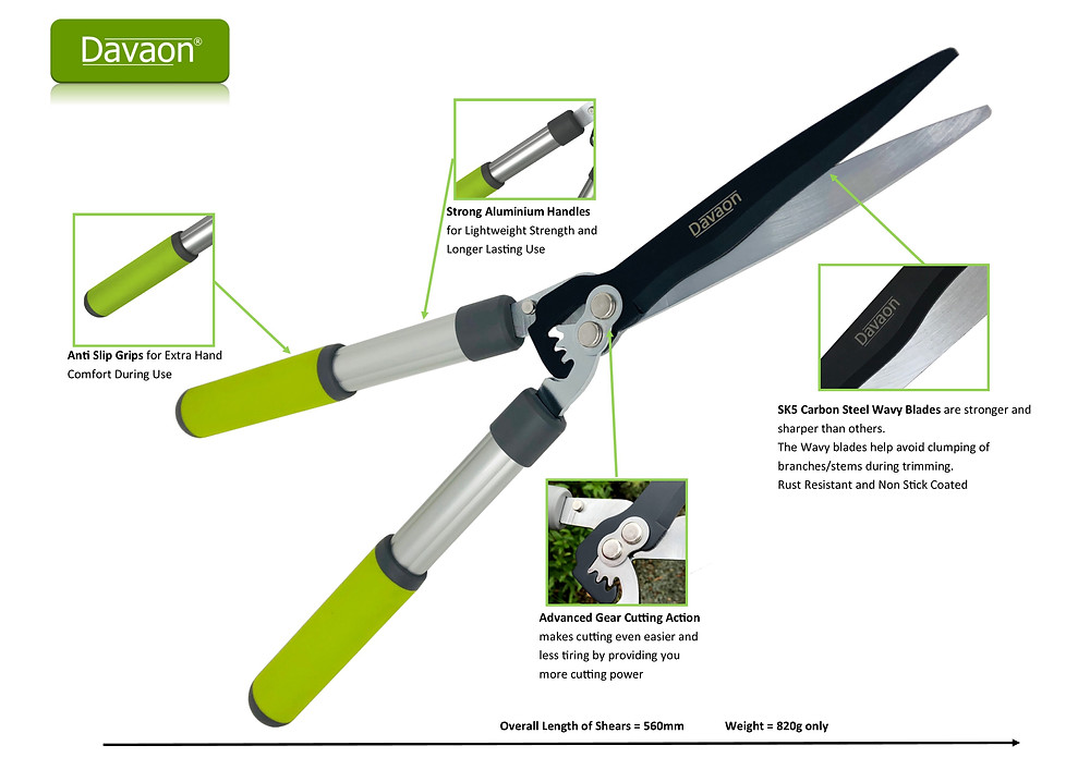 Davaon Pro Gear Garden Shears