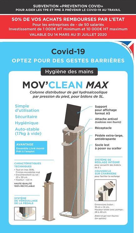 Mov'Clean  MAX 5L Colonne de désinfection. PRIX HT