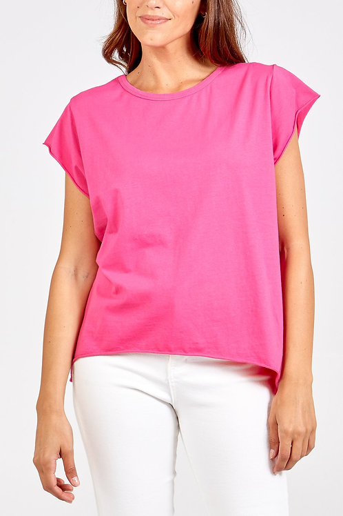 Cap Sleeved Soft T Shirt