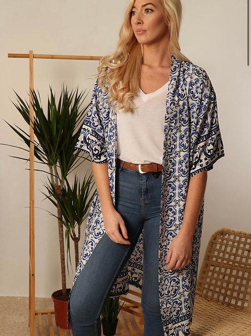 Blue Moroccan Kimono