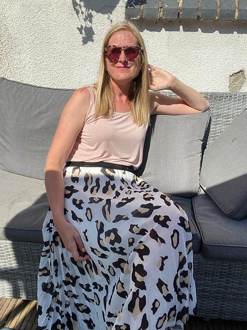 Ruthie Animal Print Swishy Skirt