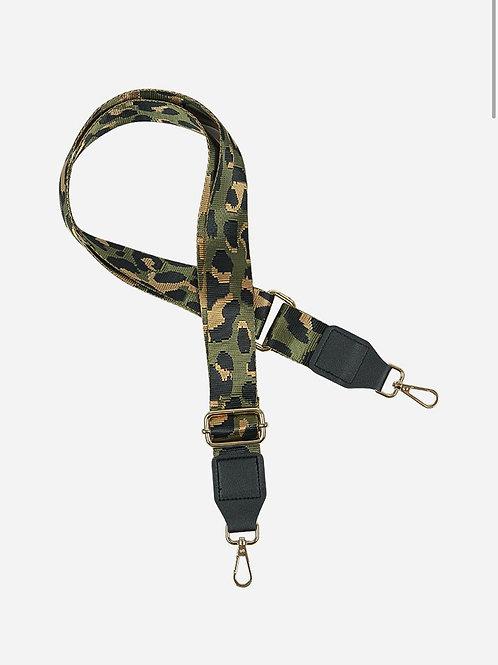 Bag Strap - Khaki leopard
