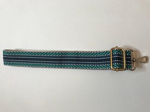 Bag Strap - Blue Aztec.