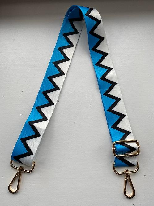 Bag Strap - Blue Aztec