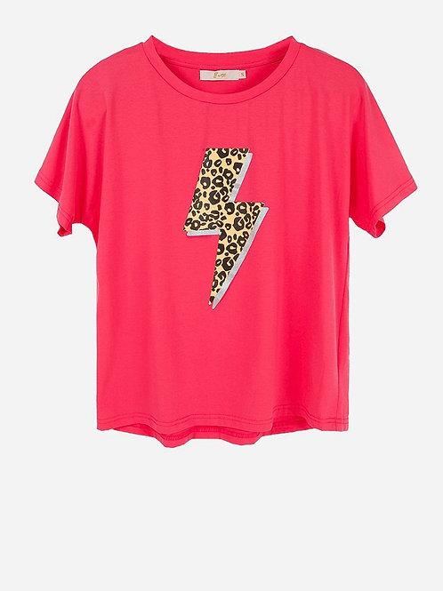 Leopard Bolt Graphic Tee Shirt