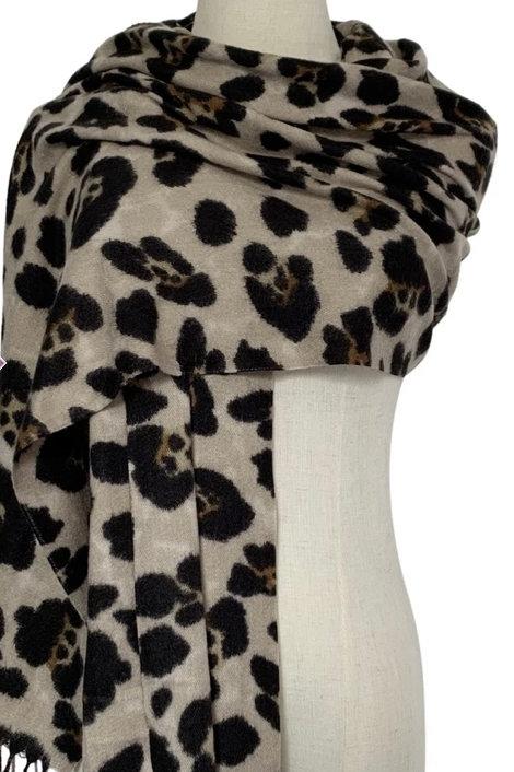 Harriet Leopard Scarf