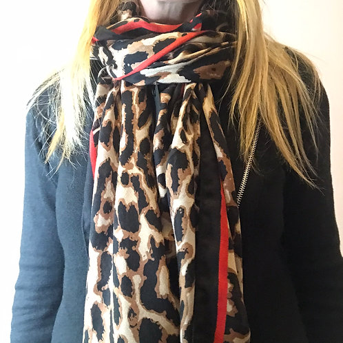 Leopard Print with Red Edging