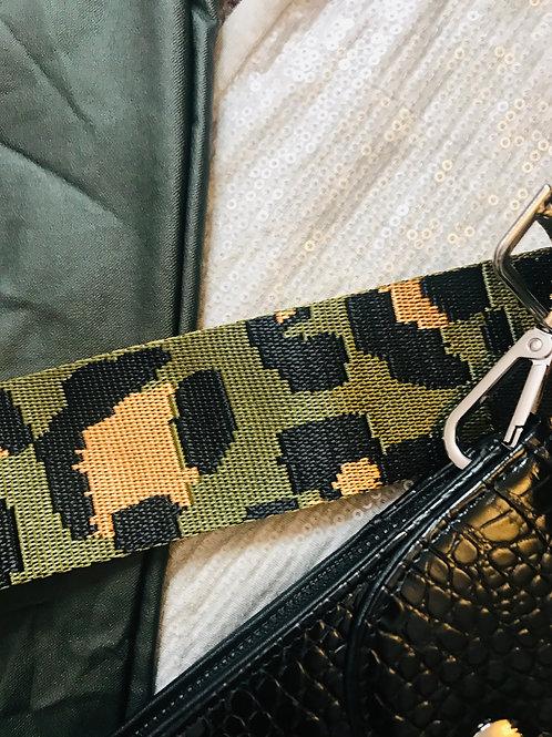 Bag Strap - Khaki Animal Print