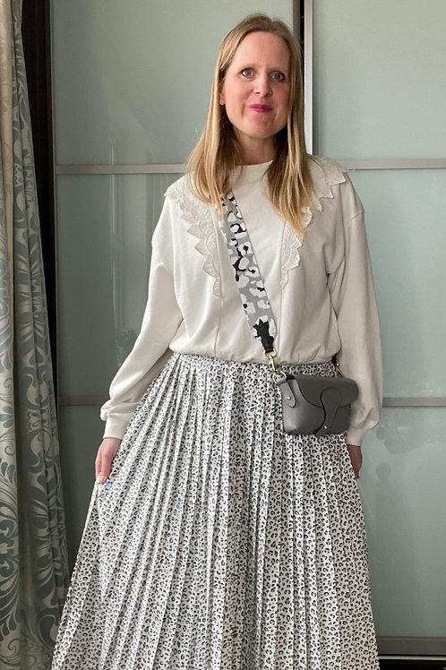 Libby Animal Print Pleated Skirt
