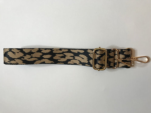 Bag Strap - Taupe Cheetah.