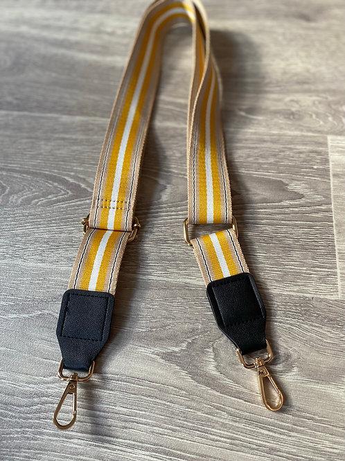 Bag Strap - Yellow Stripe