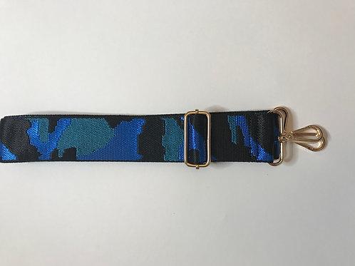 Bag Strap - Cobalt Camo.