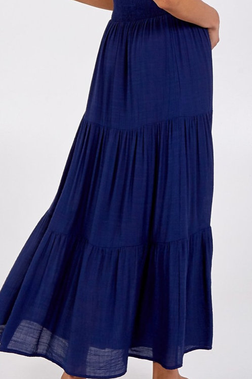 Gracie Navy Maxi Skirt