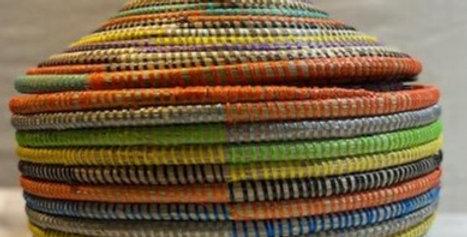 Rainbow Lidded  Basket- sold individually