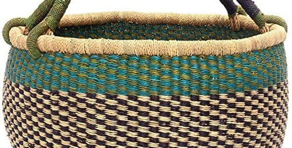 African market basket. Torquise