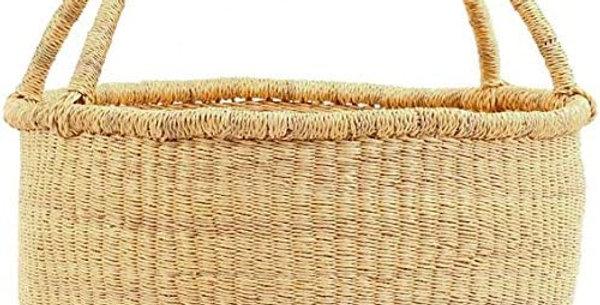 Dye- Free Natural African market basket.